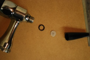 stout faucet showing gasket & restrictor plate